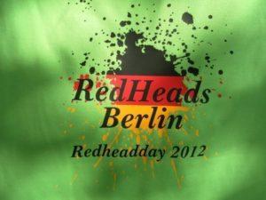 Kombination von Flexfolie in schwarz rot gelb für RedHeads Berlin - Redheadday 2012