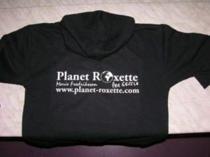 Textildruck auf Hoody mit Flexfolie für Planet Roxette