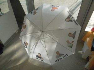 Textildruck auf Regenschirm mit Sublimationsdruck