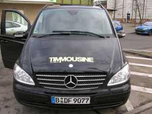 Auftrag fürs Fernsehen, beschriftung der Timmousine