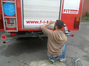 Heckbeschriftung der Fire-Fit