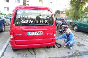 Heckscheiben-Beschriftung für Musikanten-Fahrzeug