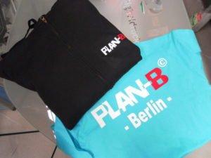 T-Shirt Textildruck mit Flockfolie für Plan-B