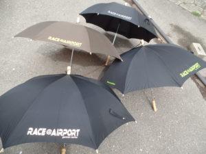 Regenschirme mit Flexfolie für RACE@AIRPORT Werneuchen